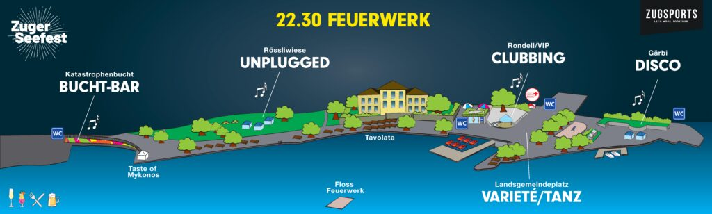 Locationplan Zuger SEEfest